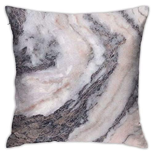 lymknumb Funda de cojín cuadrada de mármol rosa gris suave, para decoración del hogar, 45 x 45 cm, muy cómoda