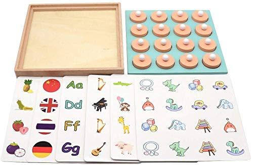Aoyo Kids Memory Match Schaken Baby Logisch Denken Training Leren Speelgoed Kinderen Vroege Educatieve Puzzel