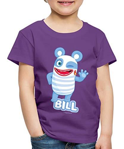 Sorgenfresser Bill Winkt Und Zwinkert Kinder Premium T-Shirt, 122-128, Lila