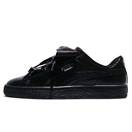 Puma Basket Heart NS, Zapatillas para Mujer, Negro (Black-Black), 38.5 EU