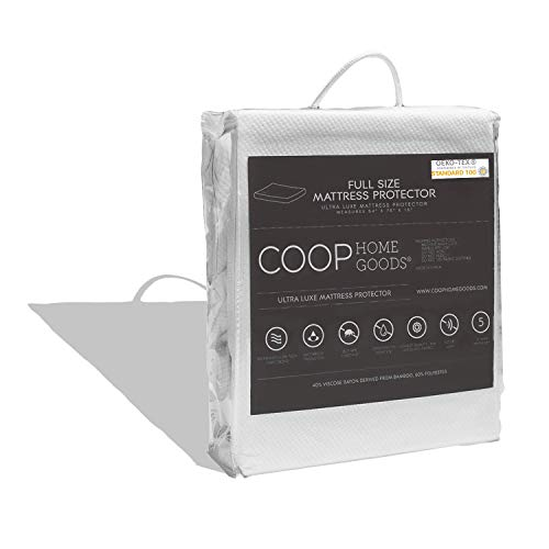 Coop Home Goods – Mattress Protector – Soft and Noiseless - Waterproof and Hypoallergenic - Protect Your Mattress Against Fluids/Spills/Mites/Bed Bugs - Oeko-TEX Certified Lulltra Fabric - Full