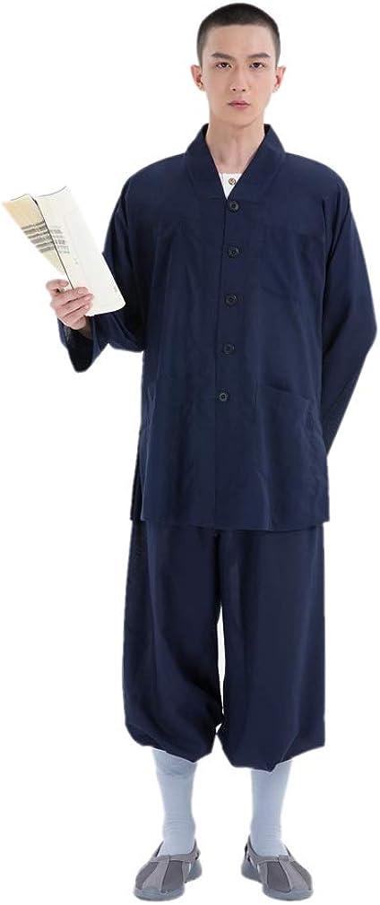 DGXIN Unisex Temple Nun Monk Casual Kungfu Yoga Shaolin Suit Summer