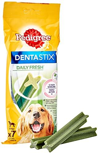 Mars Pedigree Dentastix Fresh - Friandises pour Grand Chien, 70 bâtonnets à mâcher pour l'hygiène bucco-dentaire (10 sachets de 7 Sticks)