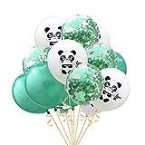 Amosfun 15pcs Panda Globos de Látex Animal Globos para Baby Shower Cumpleaños