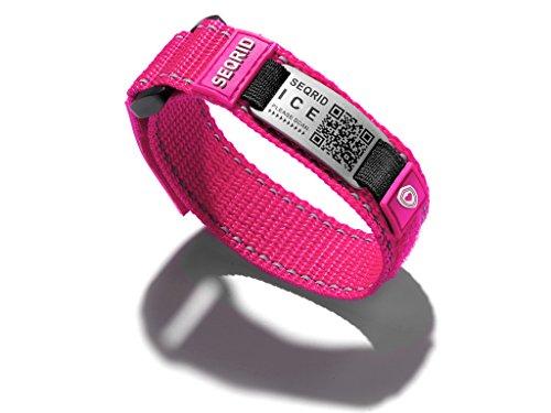 Notfall QR Armband Sport 20cm (Rosa)