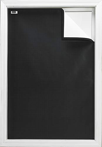 "Blackout EZ - Total Sunlight Blocking Window Cover - Complete Light Block for: Living and TV Room, Nursery, Home Theatre, Small - Customizable to (36"" x 48"") Black in/White Out - Made in USA"