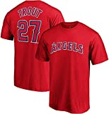 Outerstuff MLB Youth Performance Team Color Player Name and Number Jersey T-Shirt (Large 14/16, Mike Trout)
