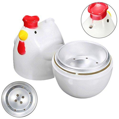 YDong Chick-Shaped 1 gekochtes Ei Dampfgarer Dampfgarer Stoessel Mikrowelle Eierkocher Kochutensilien Kuechenhelfer Zubehoer Werkzeuge