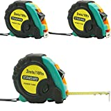 3 Pieces of 10 Feet Measuring Tape Measure Tape Keychain Tape Measures Inch