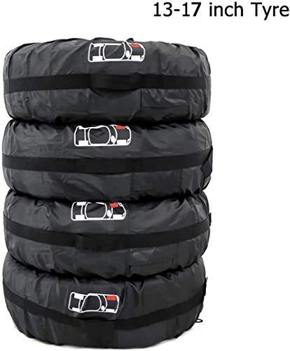 Queta Reifentaschen Set 4 Stück Autorädertaschen Wasserdicht Auto Reifen Taschen mit Griff Reifenschutz Passend für 13-17 Zoll große Autoreifen, 210D Oxford-Stoff, Reifentasche Durchmesser 66cm