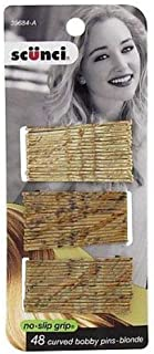Scunci Color Match Curved Bobby Pins, Blonde, 0.3 Ounce