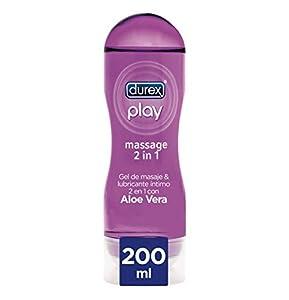Durex Play Massage 2 en 1 Gel de Masaje & Lubricante Intimo con Aloe Vera 200 ml