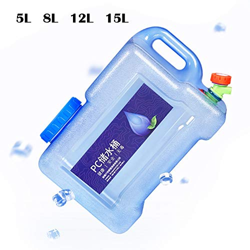 Guoda Wasserkanister  PC-Material In Lebensmittelqualität   Mit Wasserhahn   Verlängerungsrohr   Hochtemperaturbeständigkeit   Mehrzweck   Blau (Size : 8L)