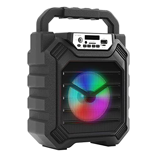 Portable Bluetooth Speaker with Light Wireless Bluetooth Speakers Subwoofer Indoor/Outdoor discolor Party Speaker Support Karaoke TF Card AUX Input U-Disk Play MP3 Music for Home Phone Camping