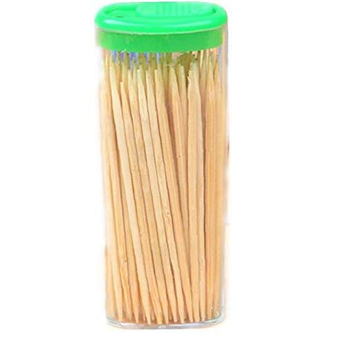 Case Cover 200pcs Haushalt Holz Dental Zahnstocher Natürliche Bambus Zähne Sticks Zufällige Farbe
