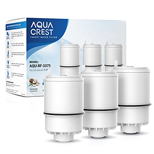 AQUACREST RF3375 NSF Certified Water Filter, Compatible with Pur RF-3375 (RF33752V2) Faucet Replacement Water Filter (Pack of 3, Packing May Vary)
