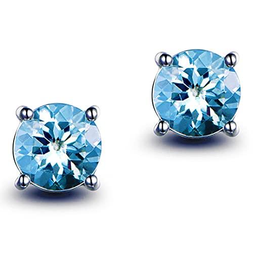 yuge 925 pendientes de mujer de plata esterlina zafiro esmeraldas rubí gemas retro estilo clásico joyería femenina azul
