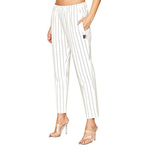 Fila Wiley Cropped Hose für Damen, weiß, 687652-F50, Weiß XS