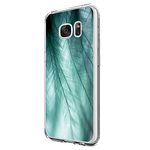 Kompatibel mit Samsung Galaxy S6 Edge Hülle Silikon Transparent Schutzhülle Weich Silicone HandyHülle, Mädchen Geschenk Muster Antikratz Design case Bumper Cover für Samsung Galaxy S6 Edge (4)