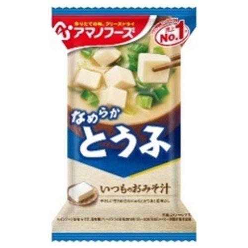 アマノフーズ フリーズドライ いつものおみそ汁 とうふ 10食×6箱入