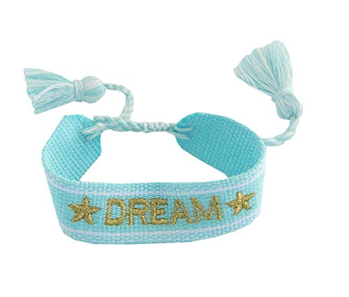 • Kiss Me! • TopModel Ibiza Indian fabric borlas pulsera Dream bordado letras infinitas amistad amor