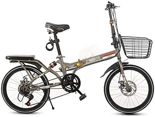 Kinderfürr r Student fürrad Geschwindigkeit fürrad Kind Faltrad Mini fürrad Junge mädchen fürrad Outdoor fürrad mit Korb (Farbe   braun, Größe   20inches)