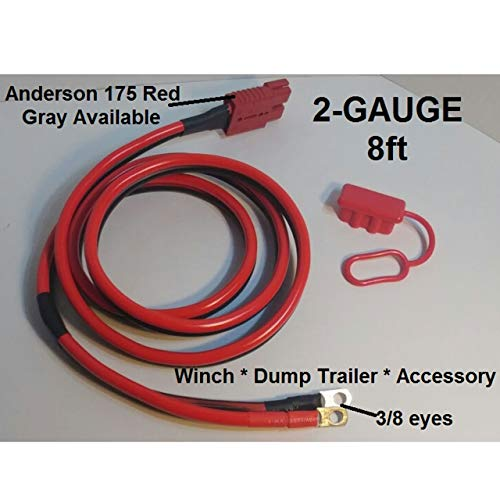 2-GAUGE-8FT Hi-amp UNIVERSAL-QUICK-CONNECT-WIRING-KIT-WINCH-DUMP TRAILER