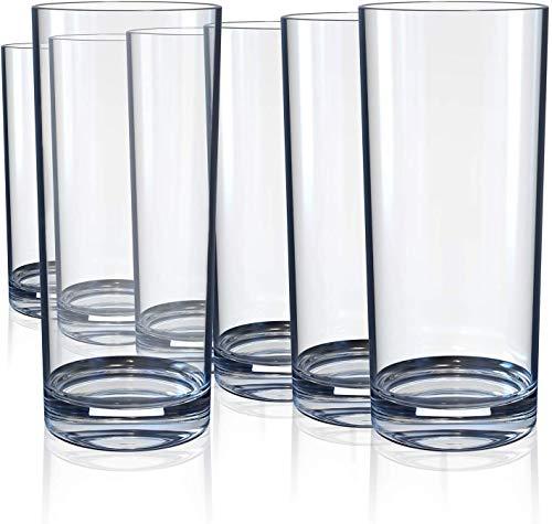 Wasserglas, Cocktailbecher, Whisky, Wasser, Saft, Bier, Rotwein, Glaswaren, schwere bleifreie transparente 10-Unzen-6-Packungen
