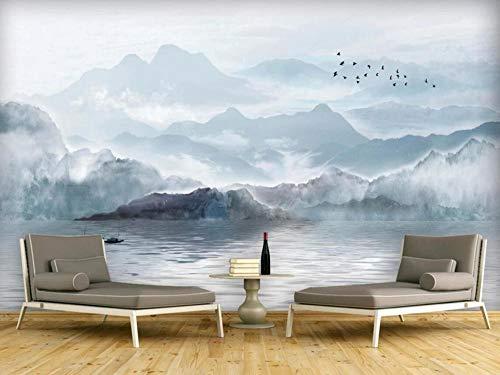 Papel Pintado 3D Paisaje De Pintura De Tinta China Fotomurales Pared Dormitorio Papel Pintado Fotográfico Mural