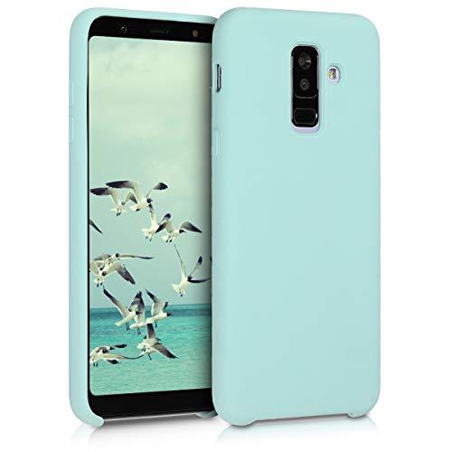 kwmobile Hülle kompatibel mit Samsung Galaxy A6+/A6 Plus (2018) - Handyhülle gummiert - Handy Case in Mintgrün matt