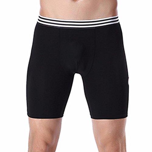 Lenfesh Ropa Interior Atractiva de los Hombres Pantalones Cortos Deportivos Bóxer Hombre