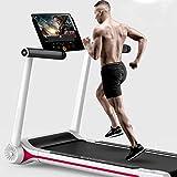 MRMRMNR Treadmills for Home, Very Silent Foldable Treadmill, Smart Music Treadmill, Audio, High-end LED Display, 4 Layer Anti-Skid Runway, Peak 2.5HP, Walking Dual Mode