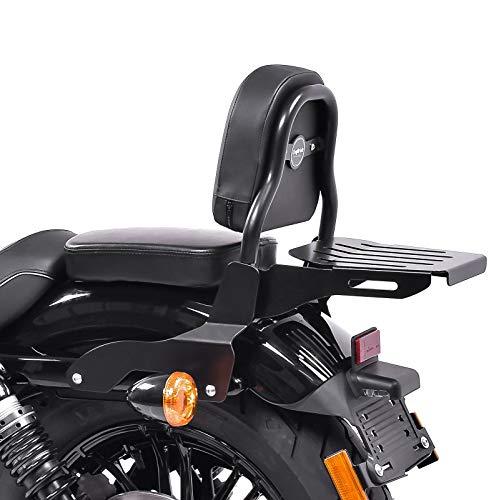 Sissy Bar CSS Fix für Harley Sportster 883 Iron 09-20 mit Gepäckträger schwarz