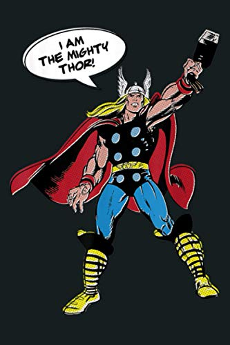 Marvel Thor Vintage Retro Comic Misprint Graphic: Notebook Planner -6x9 inch Daily Planner Journal, To Do List...