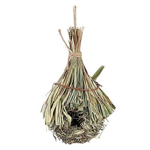 Maison d'oiseau, nid d'oiseau Feuille de Bambou tissé à la Main perroquets Suspendus Maison de Repos pour Maison Jardin décorations nichoirs Kits extérieurs(L)