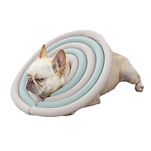VICTORIE Animale Collare Gonfiabile Recupero Ferita Cicatrizzante Protezione Guarigione Morbido Regolabile per Cuccioli Cani Gatti Verde S