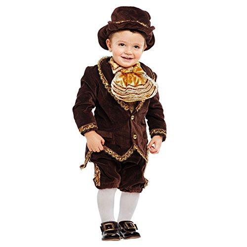 Kinderkostüm Kleiner Lord Deluxe Gehrock braun Kleinkind Barock royal Edelmann Adel historisch Fasching Karneval (98)