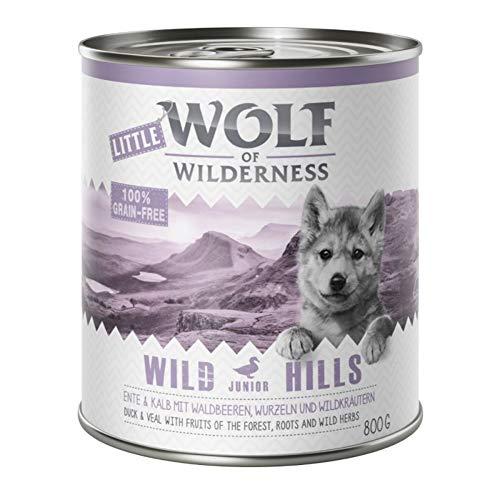 Wolf of Wilderness Little Wild Hills Junior Ente und Kalb, 6 x 800 g