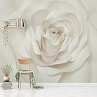 LHGBGBLN 3Dリビングルーム壁画壁紙ロマンチックなバラの花ソファ背景壁ステッカー寝室の壁紙壁アート装飾
