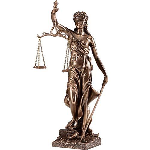 Mnjin Escultura de la Diosa Griega de la decoracin del hogar, Estatua de la Diosa de la Justicia Themis Estatua de la Diosa de la Justicia artesana de Resina de Escritorio, 48 cm