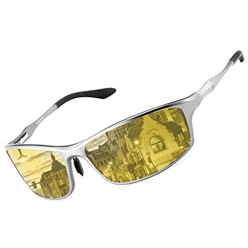SOXICK Night Time Driving Glasses Anti Glare Polarized Night Vision Glasses for Driving Fashion Sunglasses for Men Women
