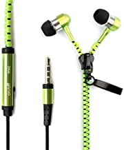 I-kool Cold Weather Winter Wear Zippered in-Ear Headphones with Mic (Ever-Green)