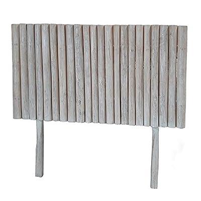 Esta fabricado con: madera de teca. Sus medidas son: 140x10x130 cm. Encaja en ambientes de estilo: nórdico, rústico, navy. Un producto recomendado para uso en dormitorio y habitación. Un exótico cabecero de cama realizado con madera de teca.