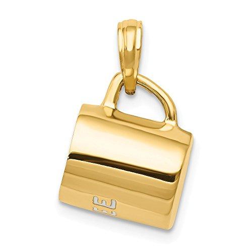 Black Bow Jewellery Company Anhänger 3D Kaffeebecher in 14 Karat Gelbgold Emaille
