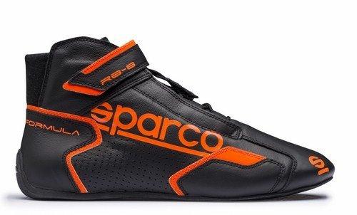 Sparco 00125138NRAF Formel Schuhe Rb-Sz 8,1 38 Blac, Schwarz