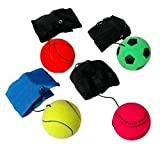 Assorted color and patterns, Made of solid, high density and natural rubber, Each wrist Rebound Ball measures 2.5 inches weight 0.2 lb (90G). Widely application: Funny sports toy ball is perfect for you playing indoor or outdoor, enjoying the happy t...