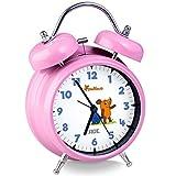 ADE, Die Sendung mit der Maus, 'Edition Freundschaft', Kinderwecker, ohne Tickgeräusche, 12 cm Durchmesser, rosa