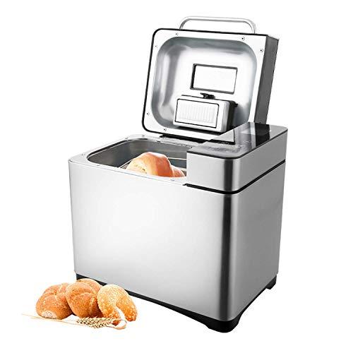 COOCHEER Brotbackautomat 19 Backprogramme,3 verschiedene Bräunungsgrade,Timing-Funktion,500-1000g Brotgewicht,Brotbackmaschine mit Automatische Zutatenbox und LED Bildschirm,710W