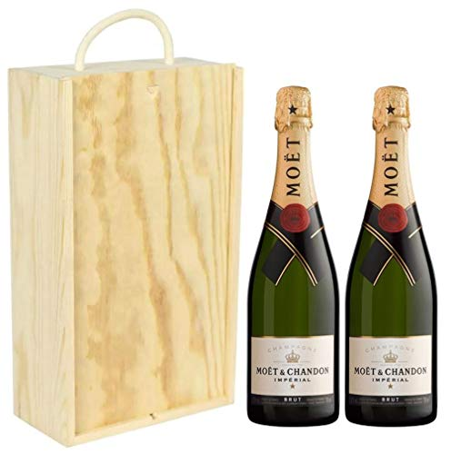 Moet and Chandon Brut Imperial Pinot Noir in Wooden Box NV 75 cl (Case of 2)