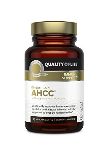 Quality Of Life Kinoko AHCC Gold Immune Health, 500 Mg, 30 Count